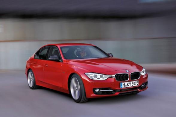 BMW SERIE 3 2012 rojo